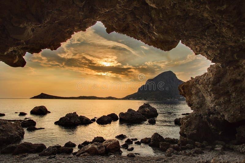 小海岛卡林诺斯岛在希腊 免版税库存图片