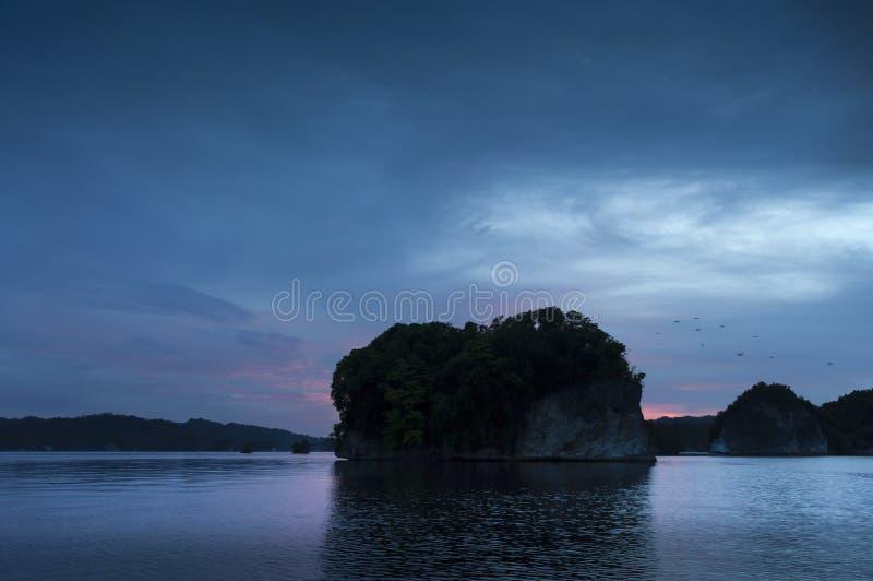 小海岛在印度尼西亚的王侯Ampat地区 免版税图库摄影