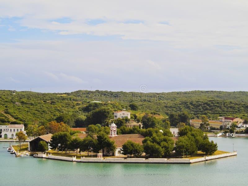 小海岛在梅诺卡岛的马翁 库存图片