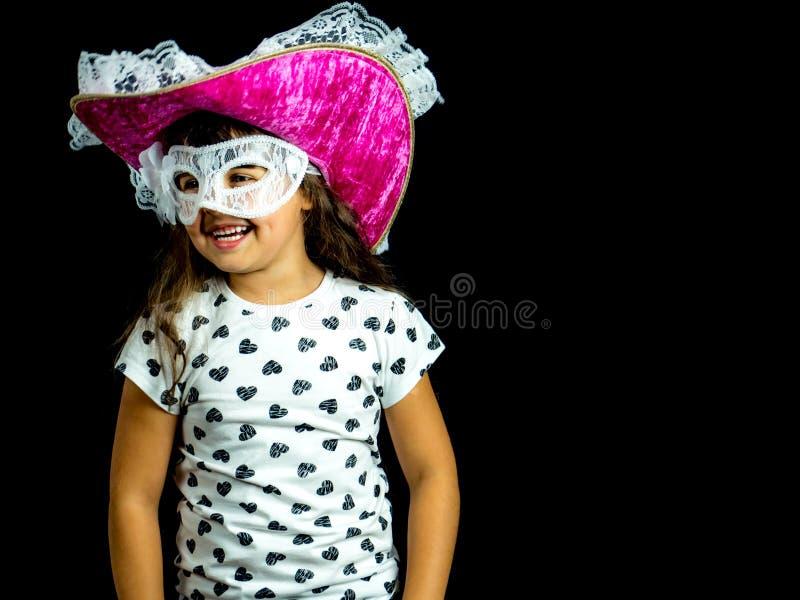 小海盗 在黑色的演播室照片 库存图片