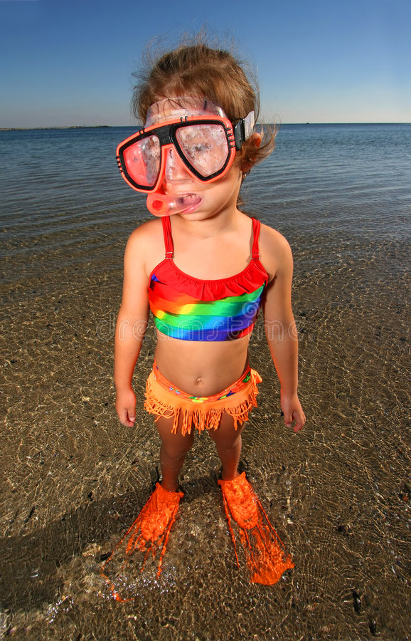 小游泳者 库存照片