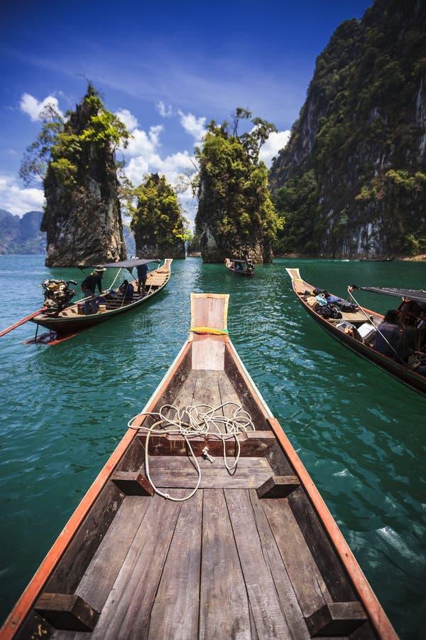 小游艇船坞吸引力在泰国 免版税库存照片