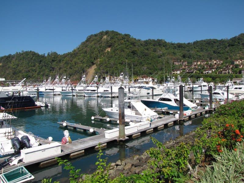 小游艇船坞哥斯达黎加 免版税库存照片