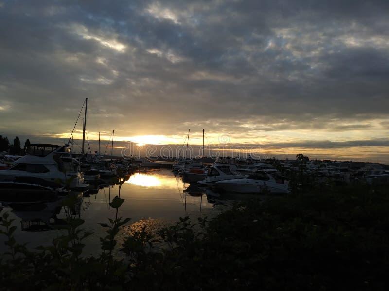 小游艇船坞在柯克兰 库存照片
