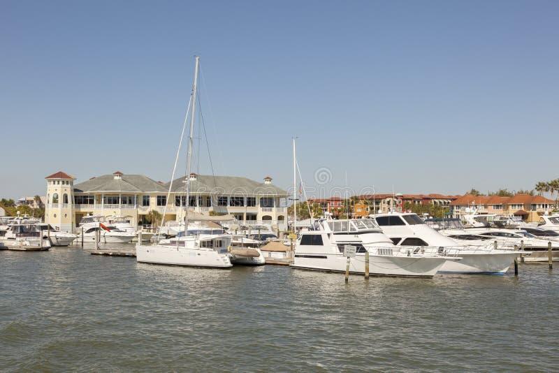 小游艇船坞在那不勒斯,佛罗里达 图库摄影