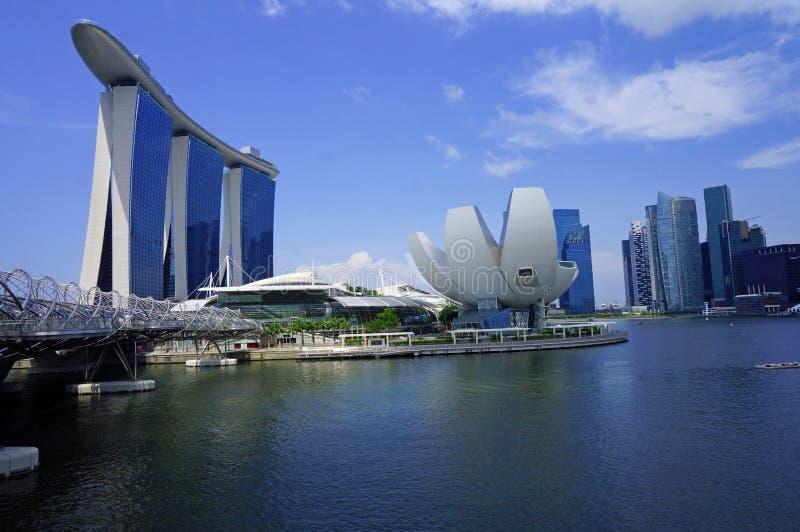小游艇船坞海湾沙子和江边,新加坡 库存照片