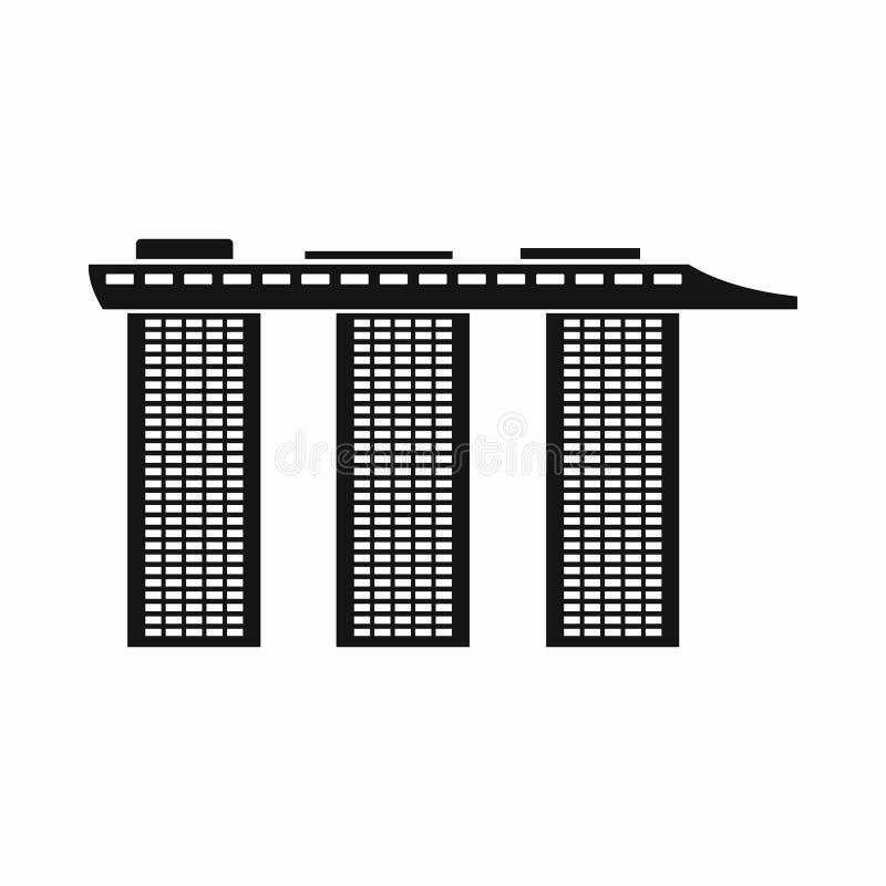 小游艇船坞海湾铺沙旅馆,新加坡象 皇族释放例证