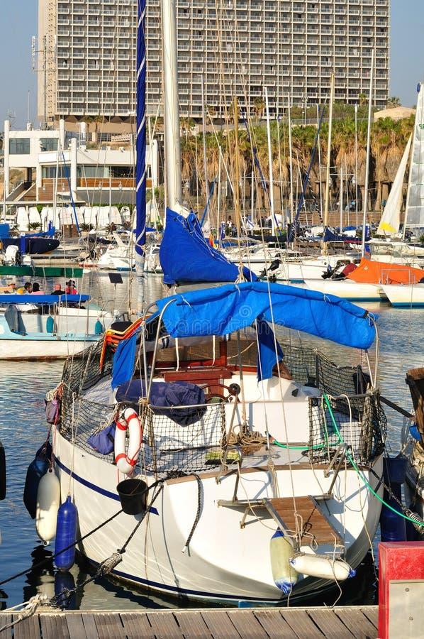小游艇船坞特拉维夫 免版税库存图片