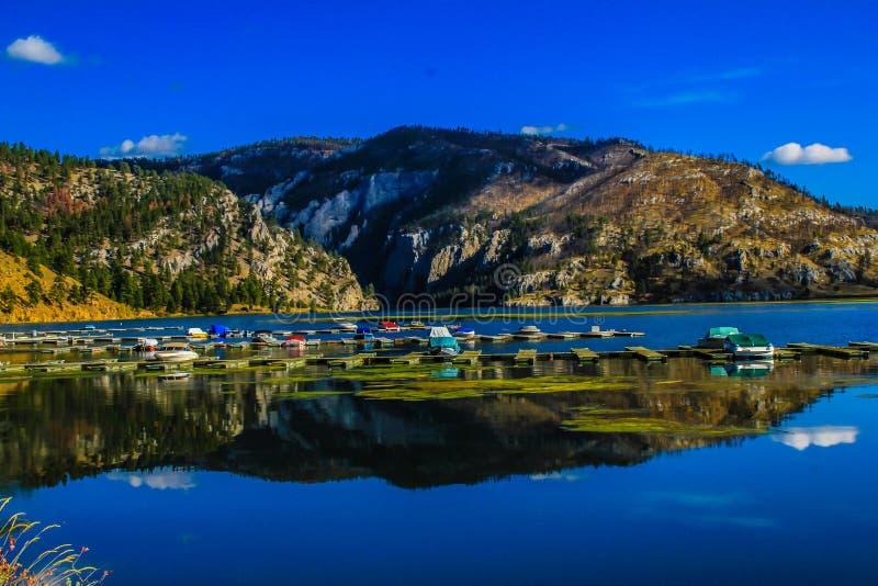 小游艇船坞,山的门,蒙大拿,美国 库存照片