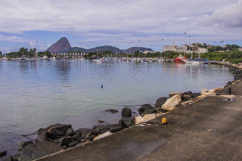 小游艇船坞da Glória -里约热内卢 免版税库存照片
