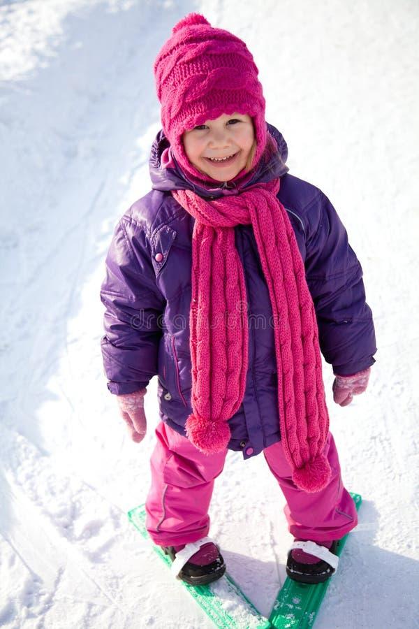 小滑雪者 免版税图库摄影