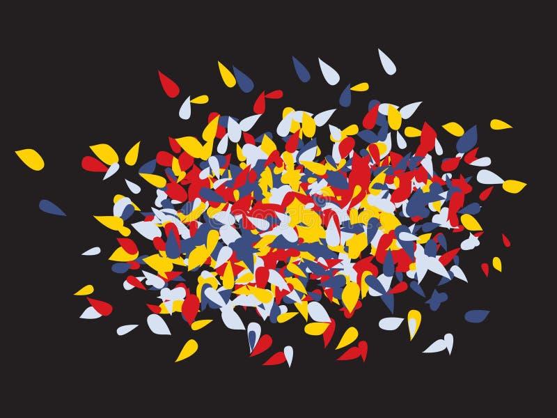 小滴原始的五彩纸屑 向量例证