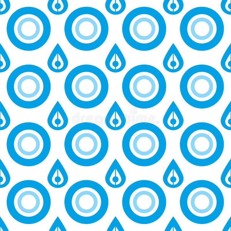 小滴模式无缝的向量水 向量例证