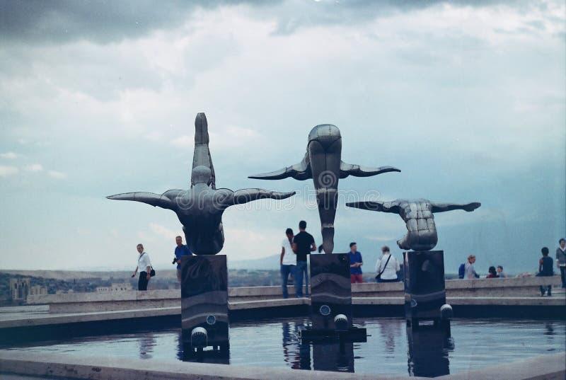小瀑布耶烈万亚美尼亚 免版税库存图片