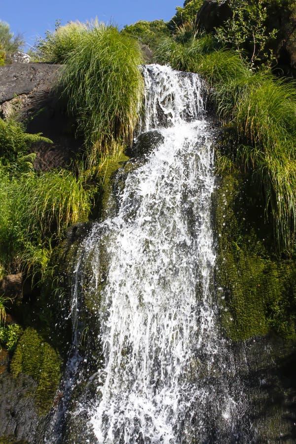 小瀑布水秋天 图库摄影