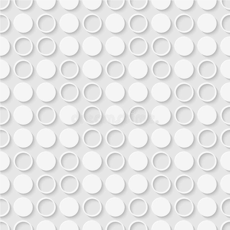 小点和圆环的无缝的样式 几何被加点的墙纸 库存例证
