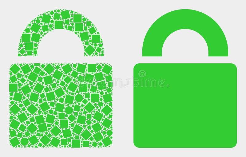 小点和平的传染媒介锁象 库存例证