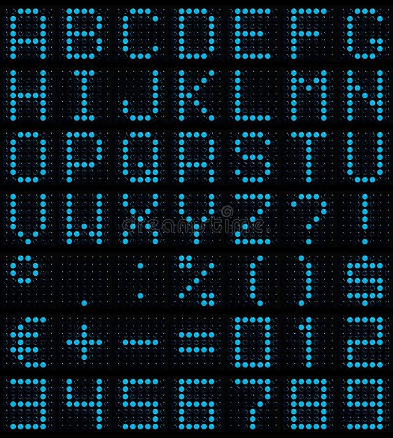 小点字体矩阵 向量例证
