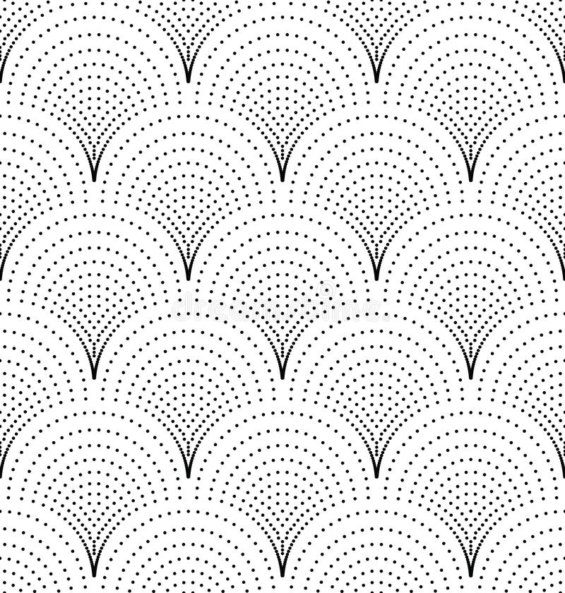 小点的无缝的日本波动图式 库存例证