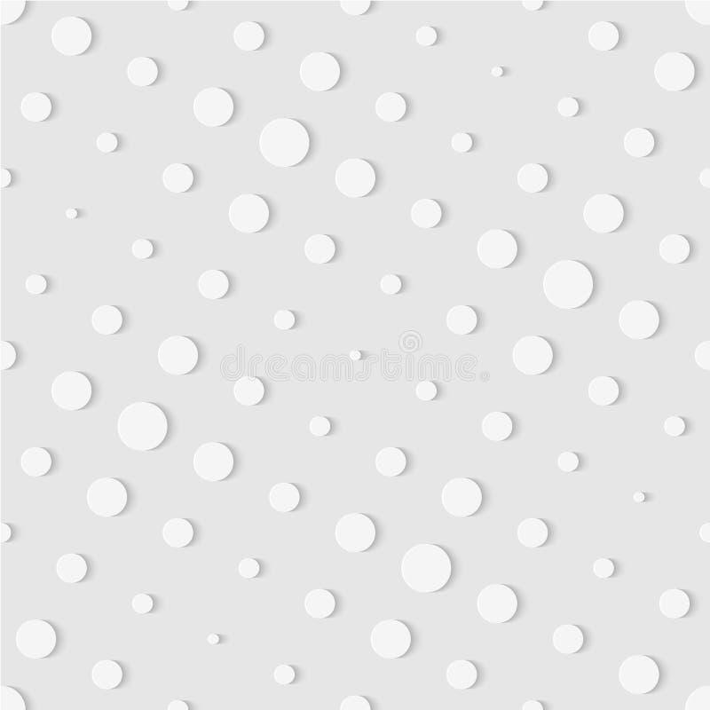 小点的无缝的样式 几何被加点的墙纸 软的backg 库存例证