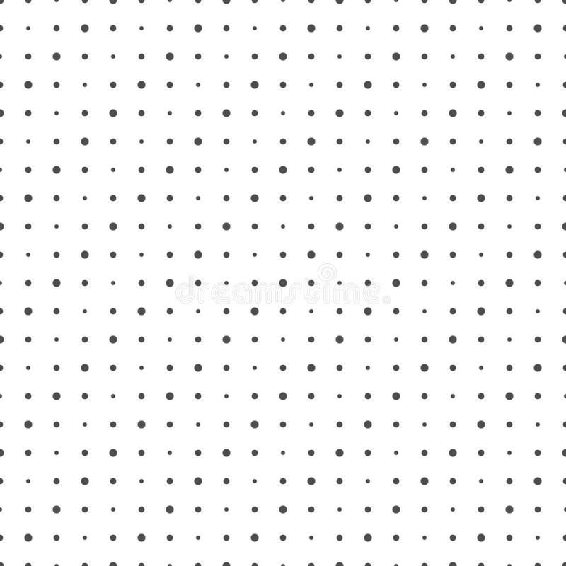 小点的无缝的样式 几何被加点的墙纸 皇族释放例证