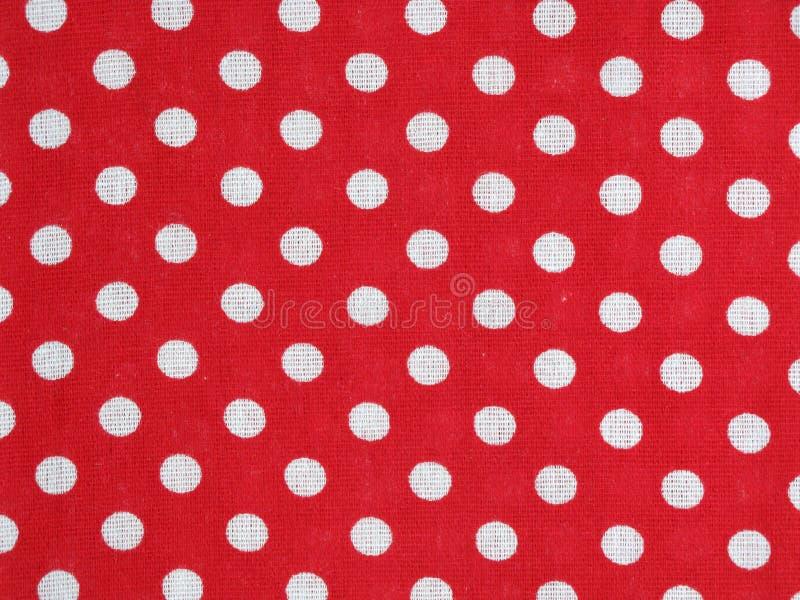 小点织品短上衣红色 免版税图库摄影