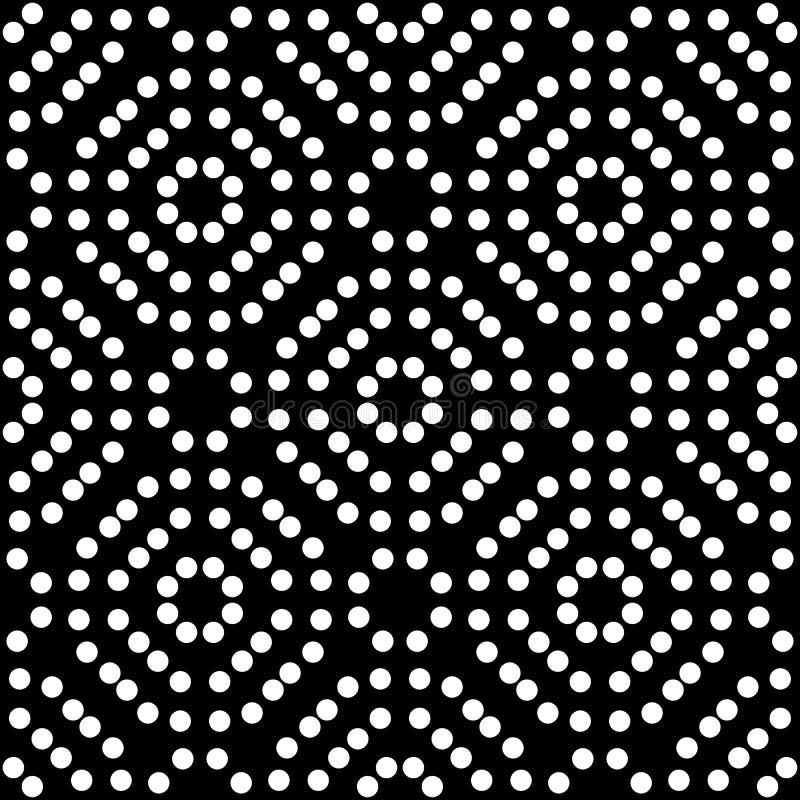 小点重复了无缝的黑&白色样式 皇族释放例证