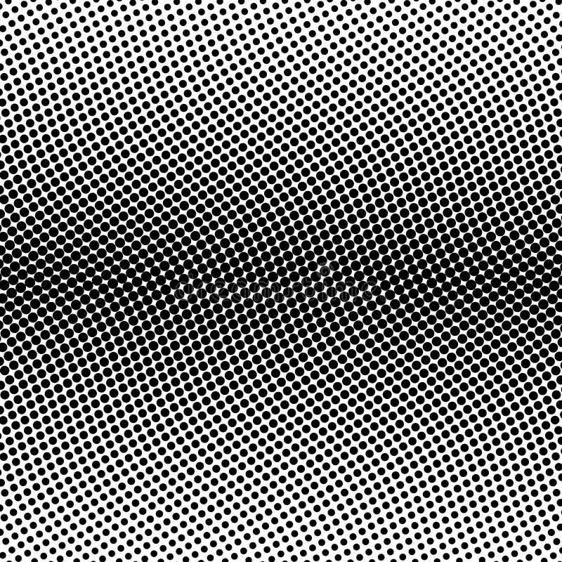 小点黑半音双线水平的梯度线在波浪安排的在白色背景 减速火箭的抽象传染媒介 库存例证