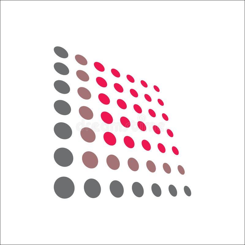 小点TECHNO象商标传染媒介 向量例证
