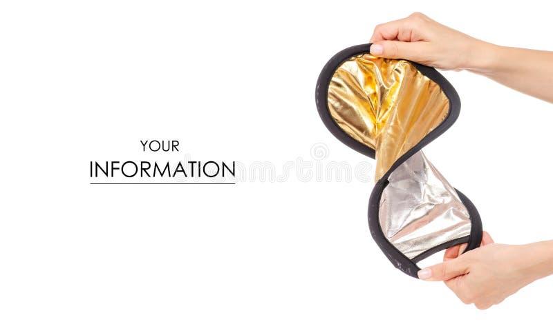 小照片反射器手中样式 免版税库存图片