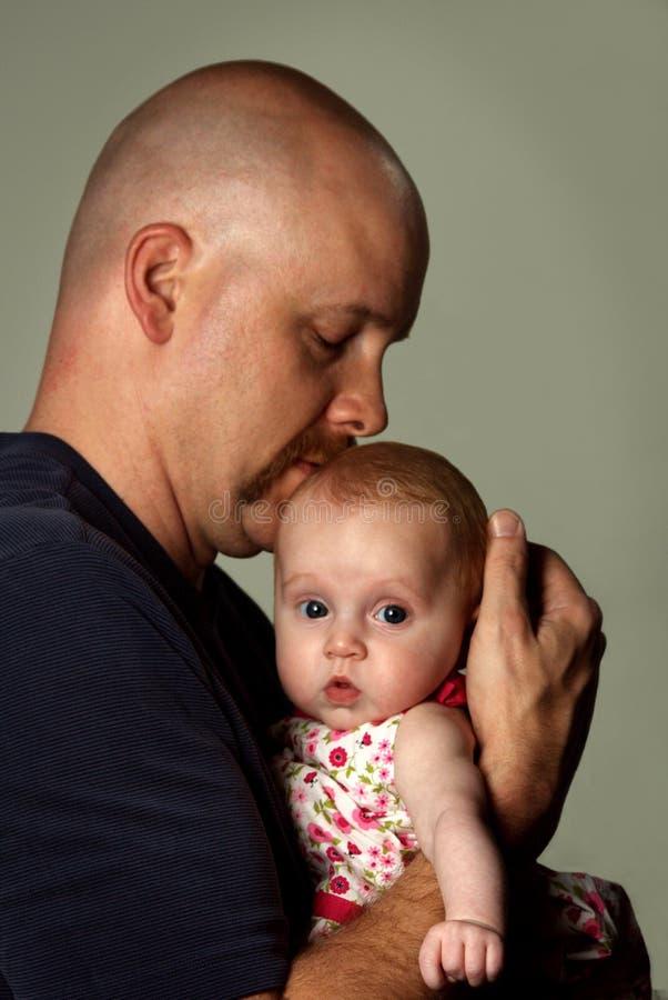 小爸爸女孩 库存照片