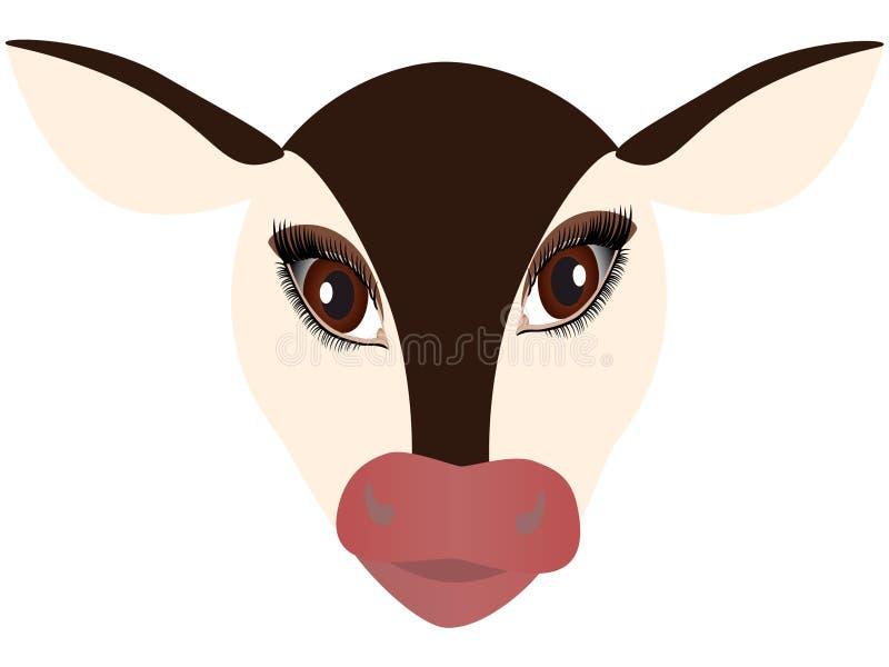 小牛的头 皇族释放例证