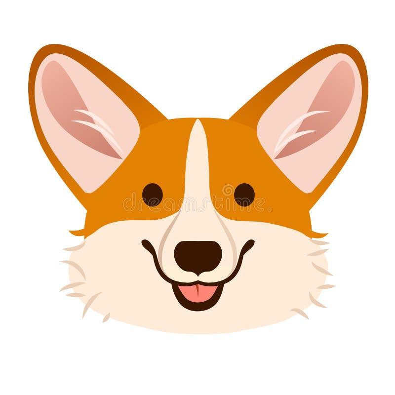 小狗狗逗人喜爱的动画片传染媒介画象 彭布罗克角威尔士小狗pu 向量例证