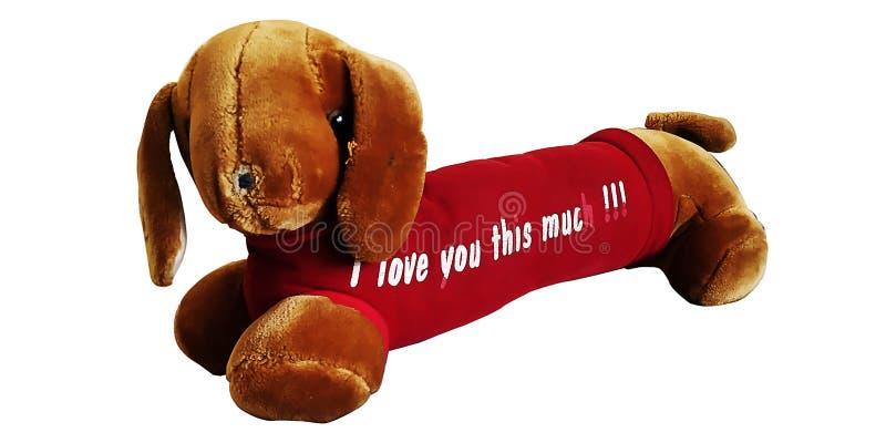 小狗软的玩具小甜可爱的被充塞的玩具 免版税库存图片