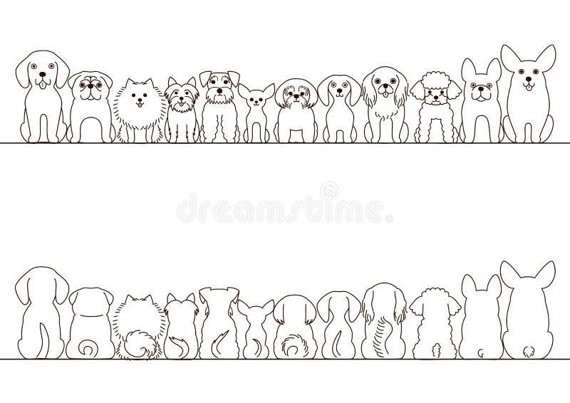 小狗边界集合 向量例证