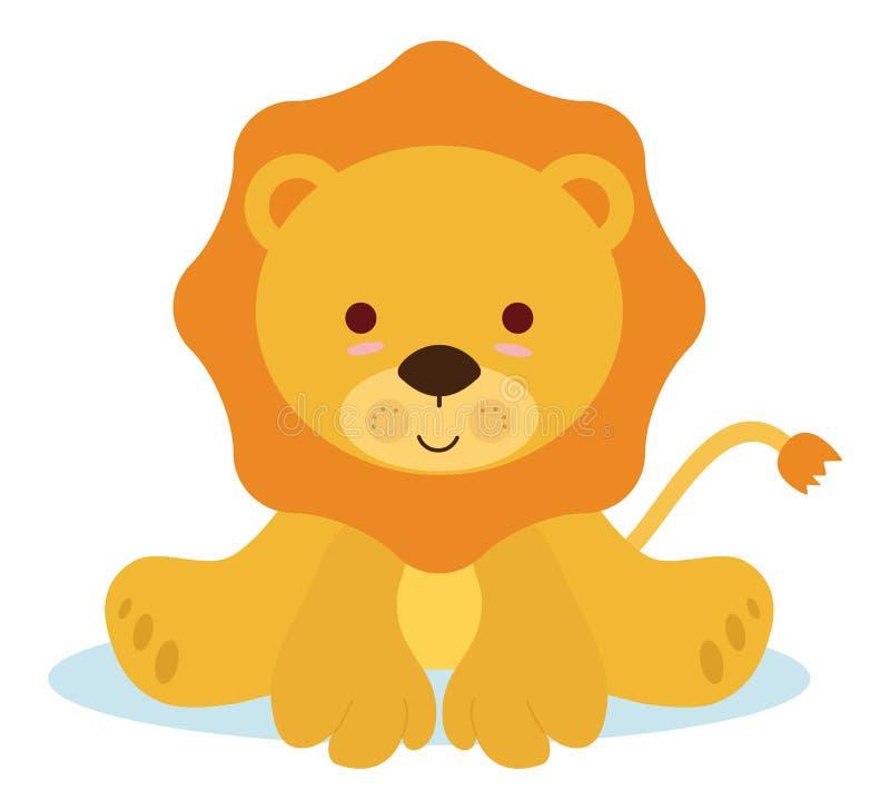 小狮子 皇族释放例证