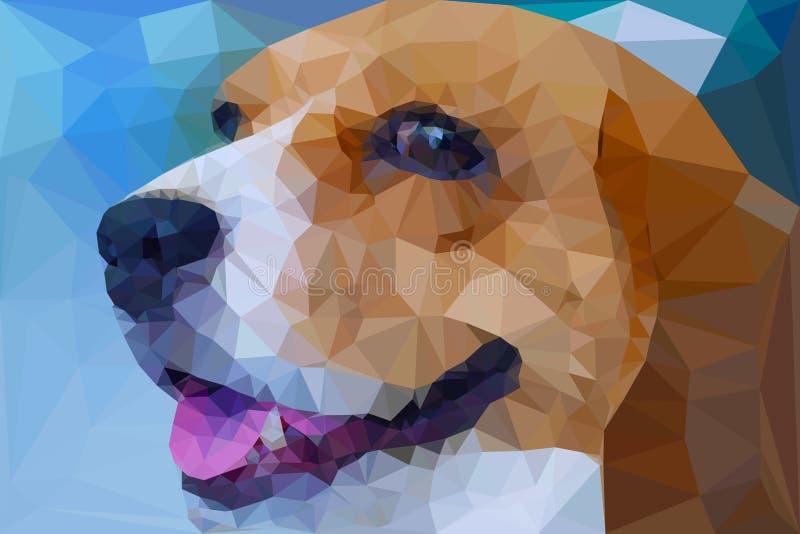 小猎犬几何传染媒介的多角形 皇族释放例证