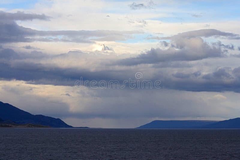 小猎犬海峡乌斯怀亚阿根廷,小猎犬kanaal Ushiaia Argentin 免版税图库摄影