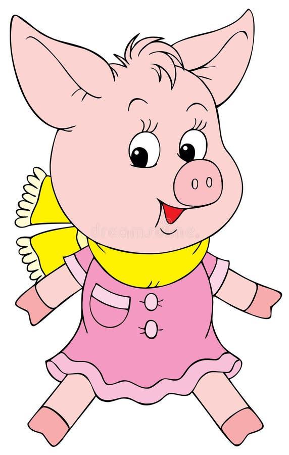 小猪粉红色 库存例证