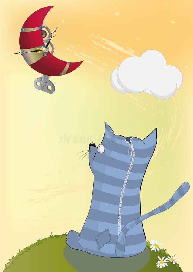小猫月亮 库存例证
