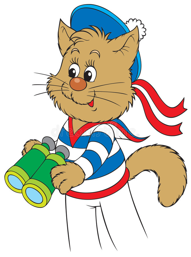 小猫水手 皇族释放例证