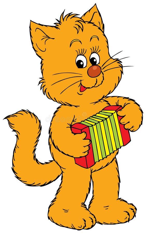 小猫音乐家 库存例证