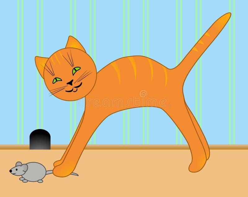 小猫鼠标 向量例证