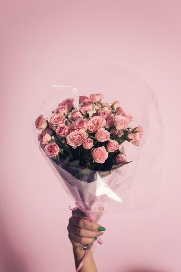 小玫瑰花束,特写镜头 图库摄影