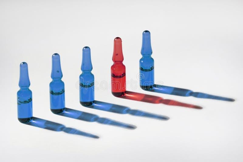 小玻璃瓶 免版税图库摄影