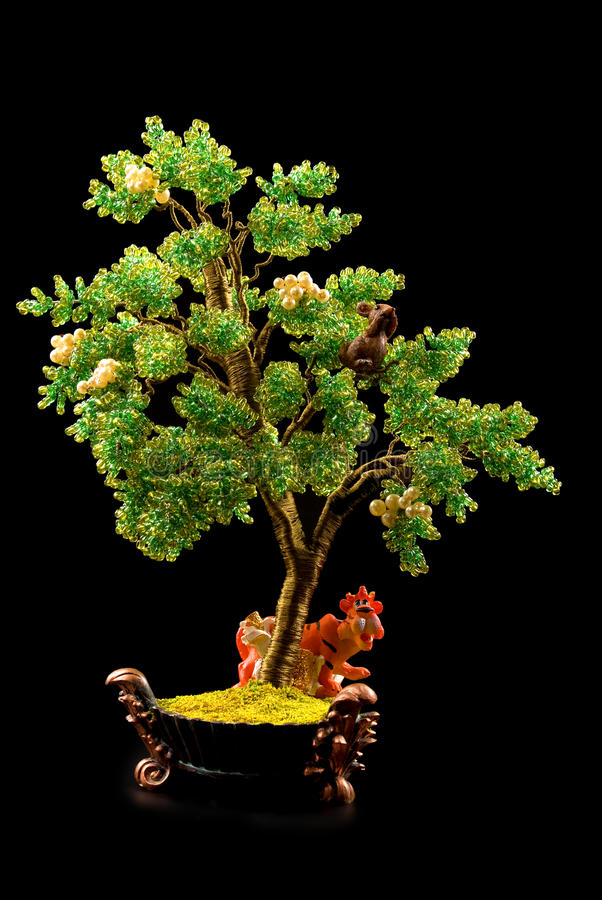 小珠做老虎结构树 库存照片