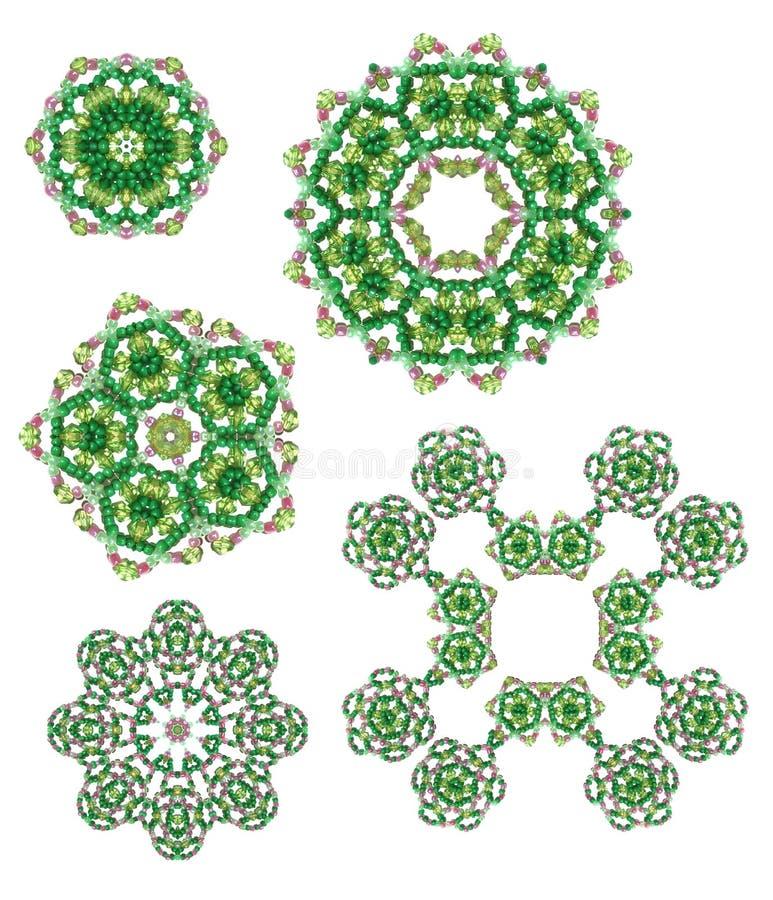 小珠玻璃设计的要素 库存照片
