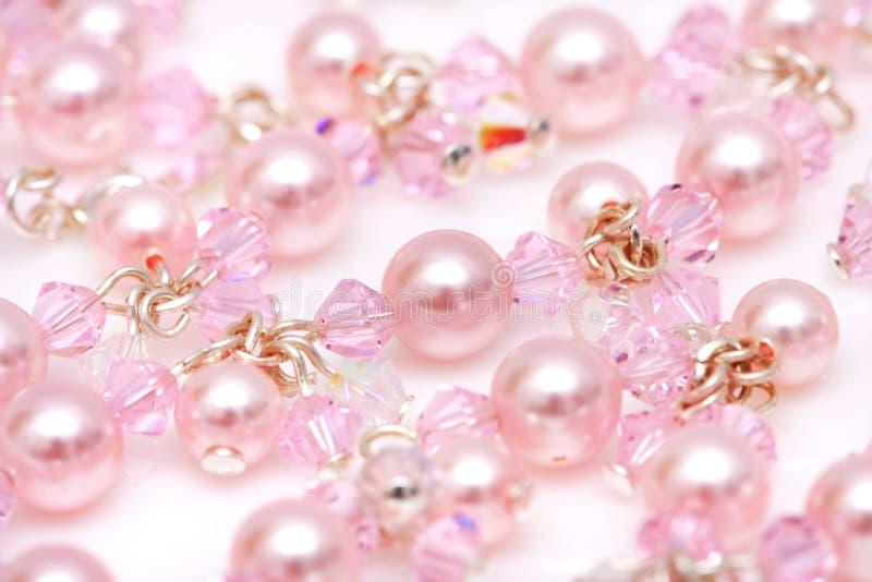 小珠粉红色 免版税库存照片
