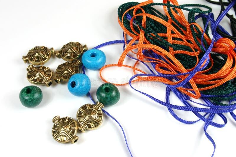 小珠绳子工艺 图库摄影