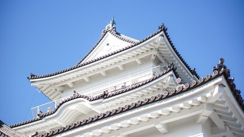 小田原城堡头在早晨在秋天,小田原,神奈川P 库存照片